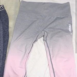 gymshark ombre chalk pink seamless